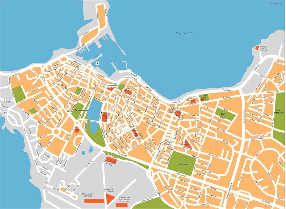 reykjavik vector map