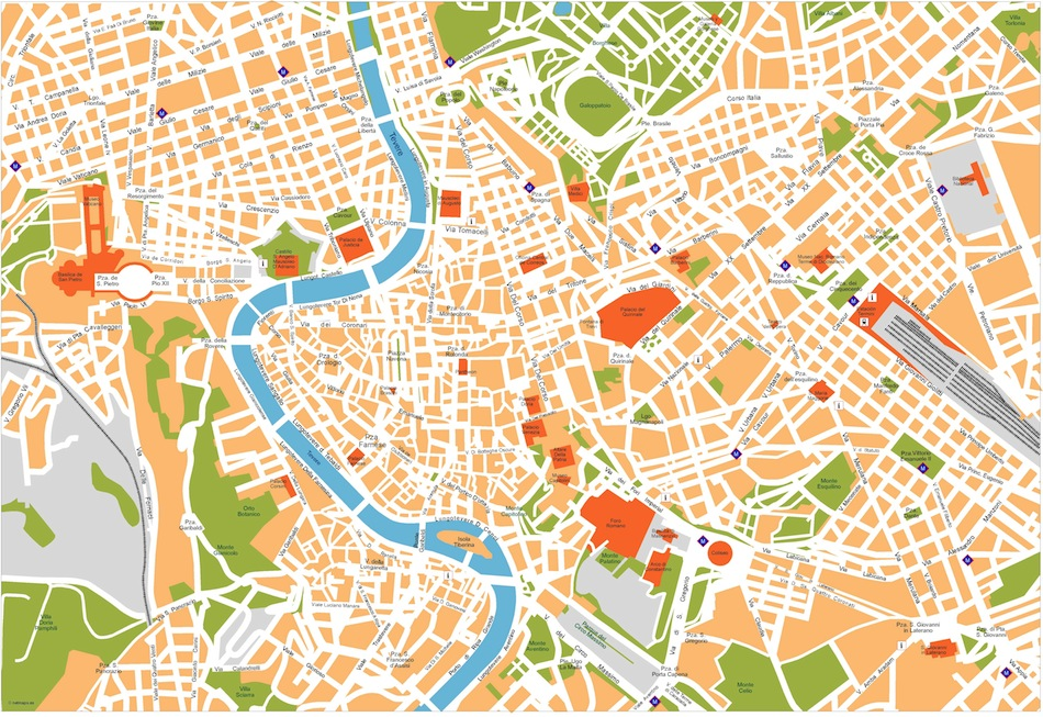 Rome vector map. Eps Illustrator Map | Vector World Maps