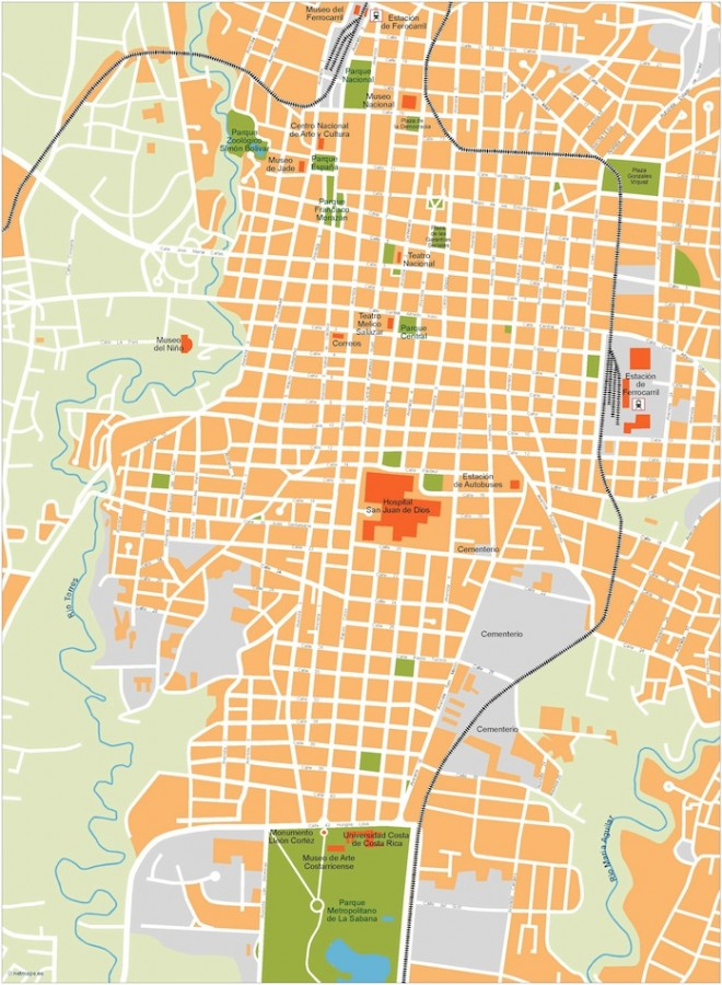 san jose vector map