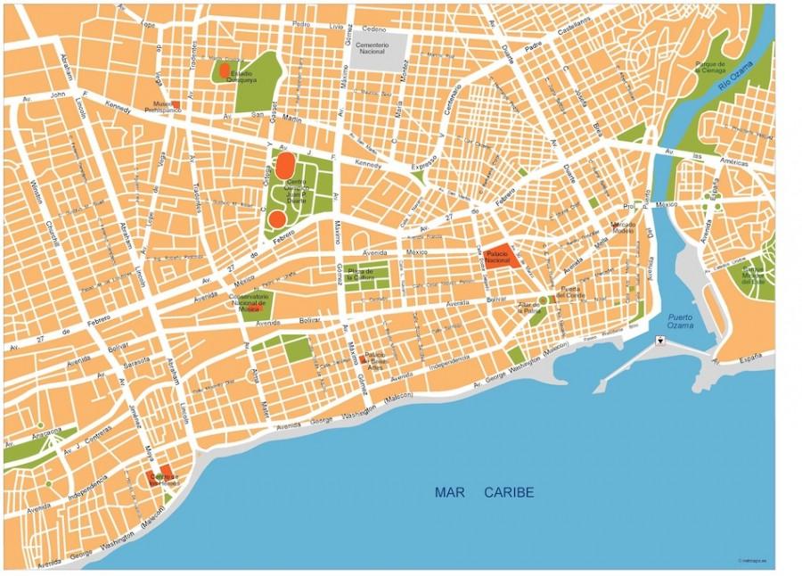 santo domingo vector map