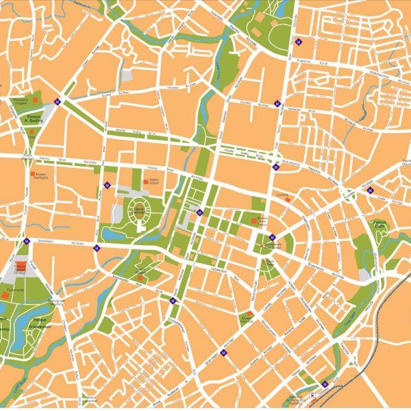 tashkent vector map