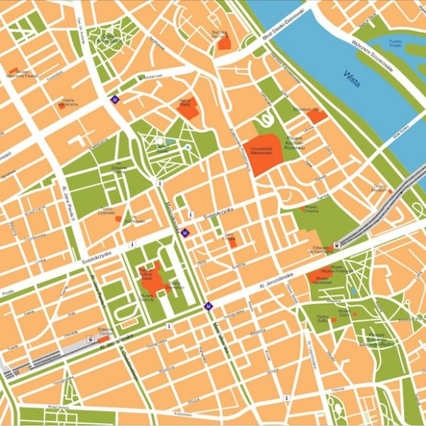 warsaw vector map