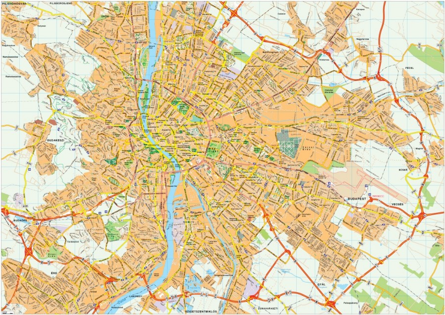 Budapest map vector Eps Illustrator Map Our cartographers have made Budape