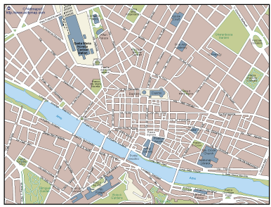 Florence Vector map Eps Illustrator Map A vector eps maps