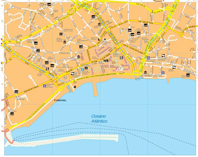 funchal mapa Funchal Vector map. Eps Illustrator Map | A vector eps maps  funchal mapa