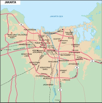 Map Jakarta.Jakarta City