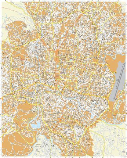 Katmandu Vector Map