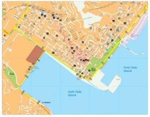 La Spezia vector map