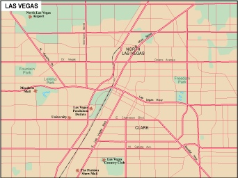 North America City Vector USA Maps Eps City Maps Of USA Street - Las vegas map in usa