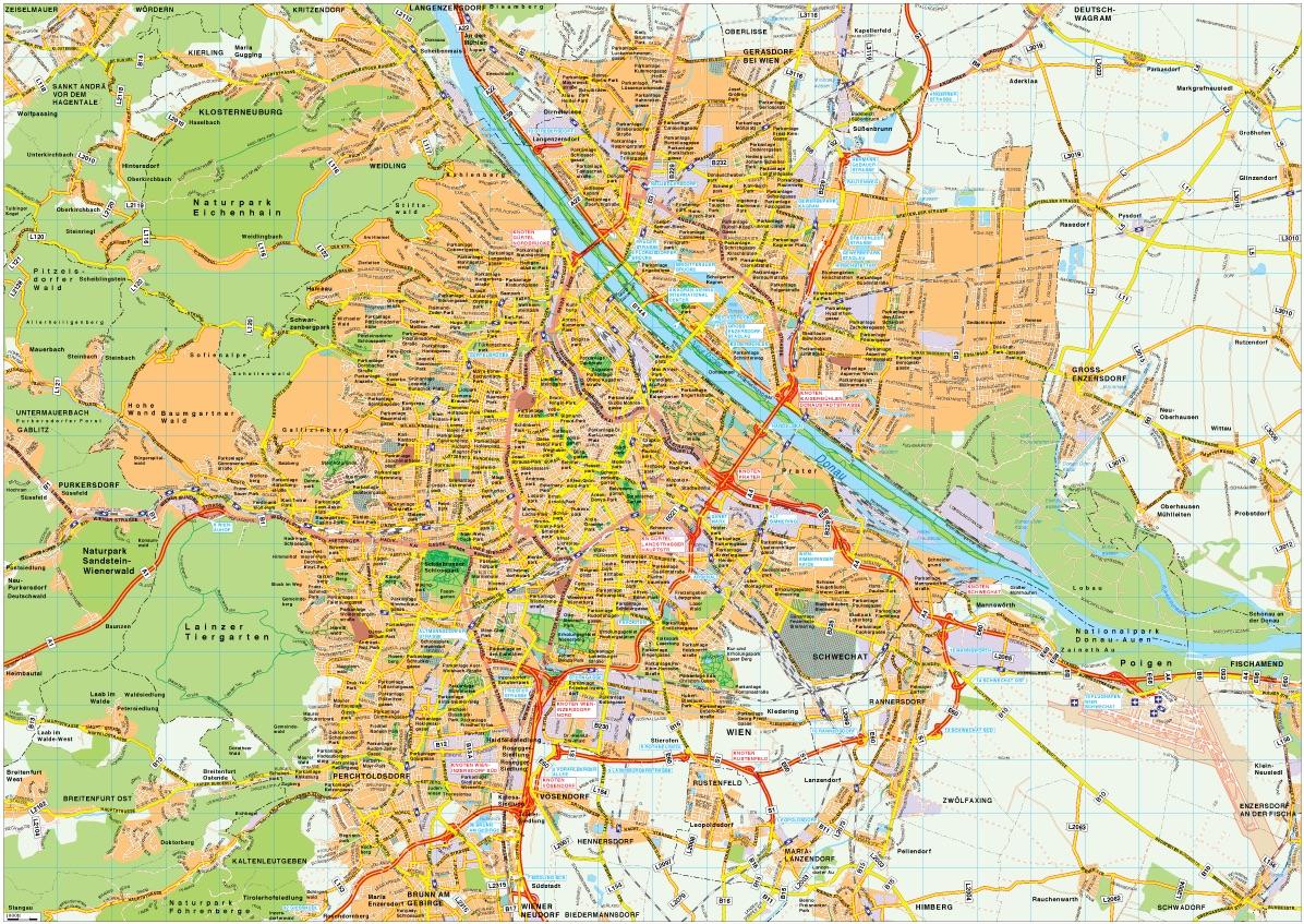 Wien Map Vector Vector Amp Wall Maps From Netmaps 174 Made