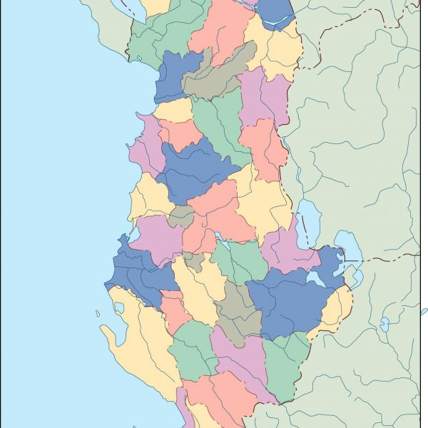 albania blind map
