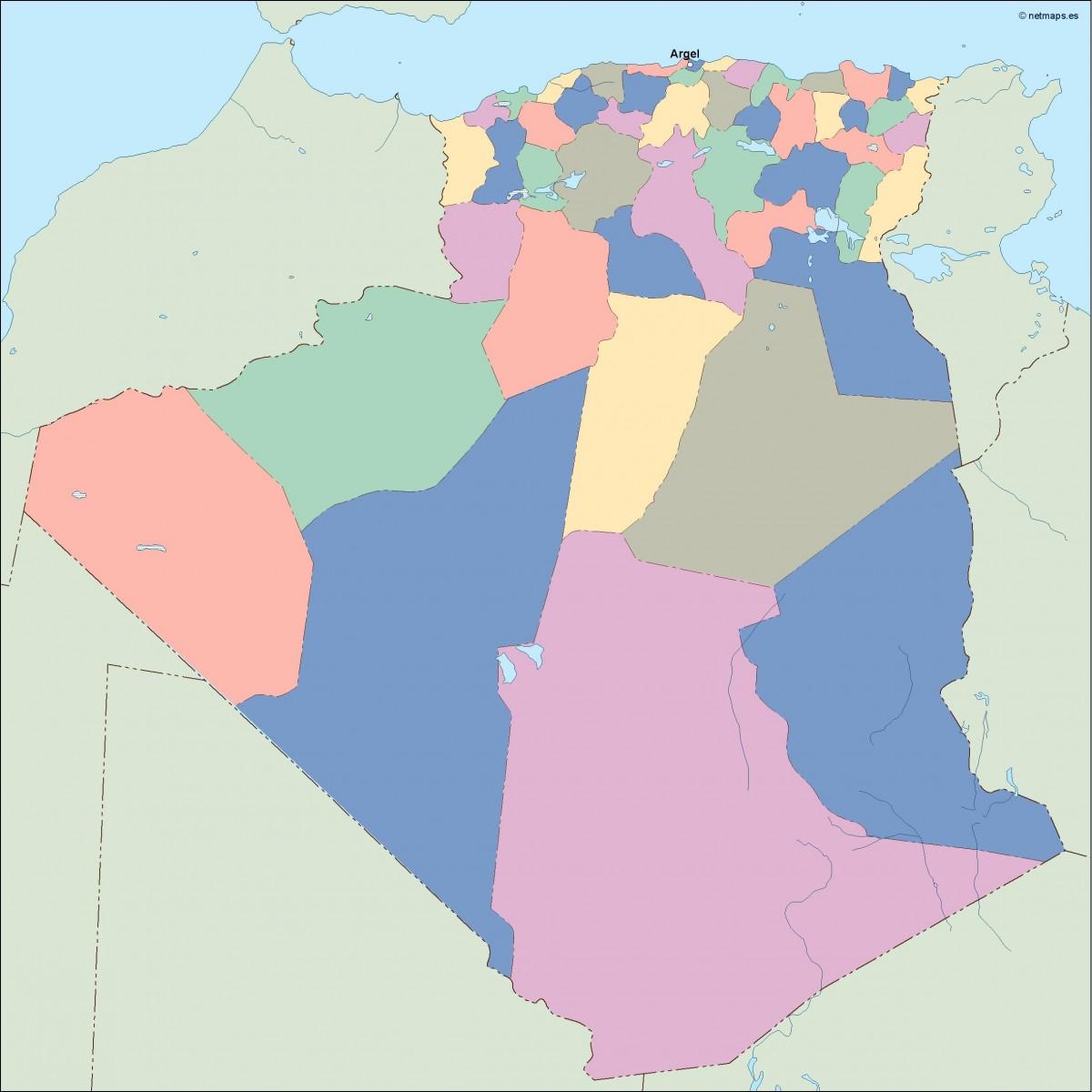 Carte Algeria Vector.Algeria Vector Map