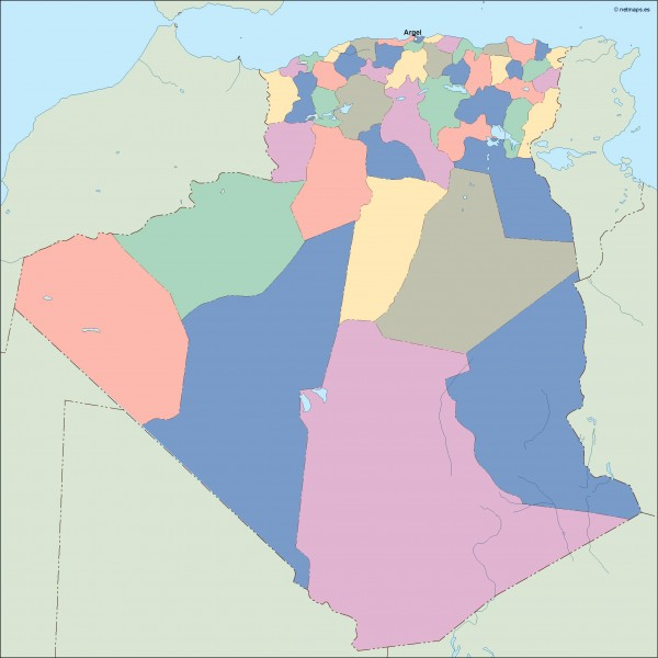 algeria vector map