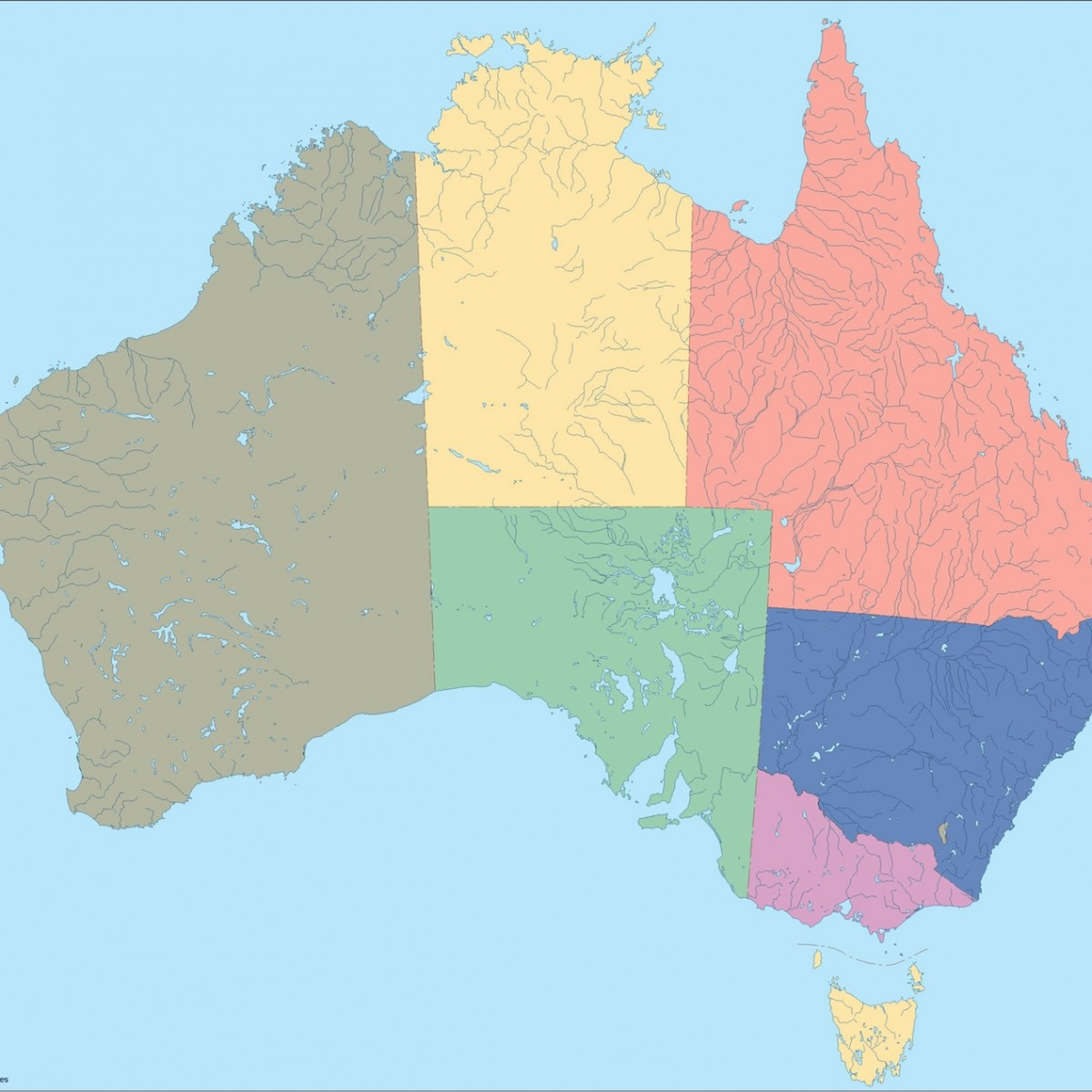 Australia blind map eps illustrator map our cartographers have australia blind map gumiabroncs Image collections
