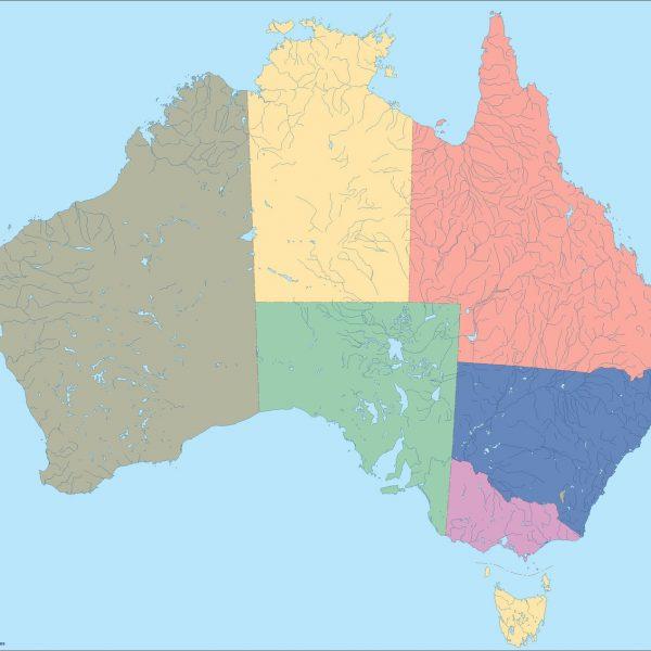 australia blind map