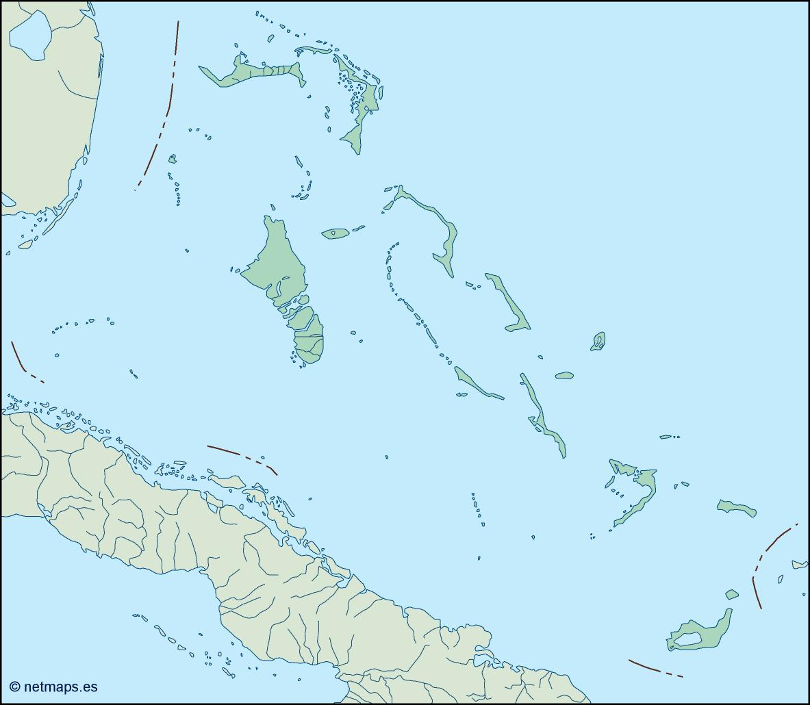 Picture of: Bahamas Blind Map Eps Illustrator Map Vector World Maps