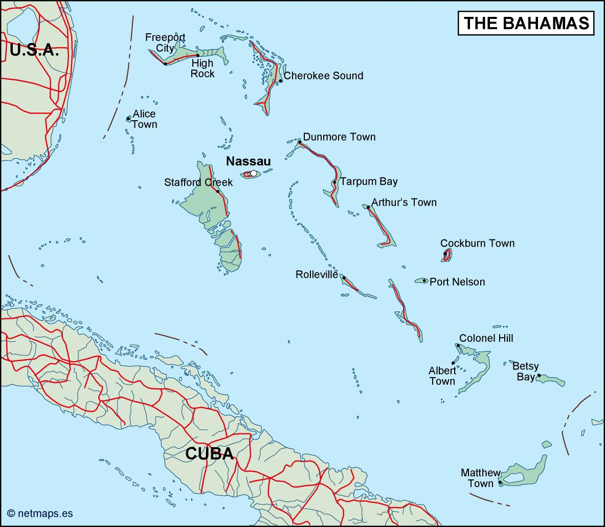 bahamas political map Eps Illustrator Map A vector eps maps