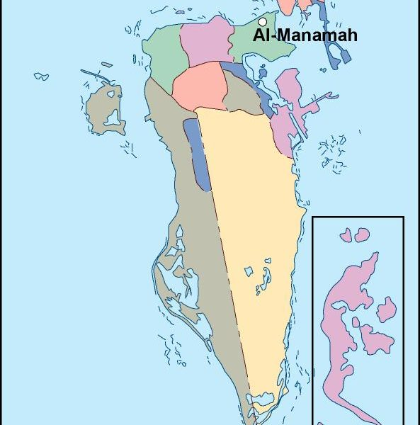 bahrain vector map