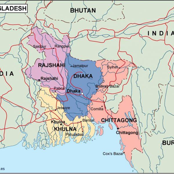 Bangladesh Political Map Eps Illustrator Map Vector World Maps