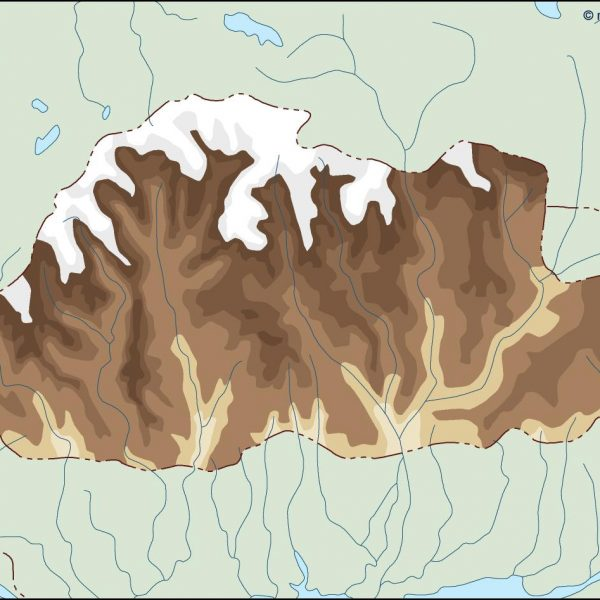 bhutan illustrator map