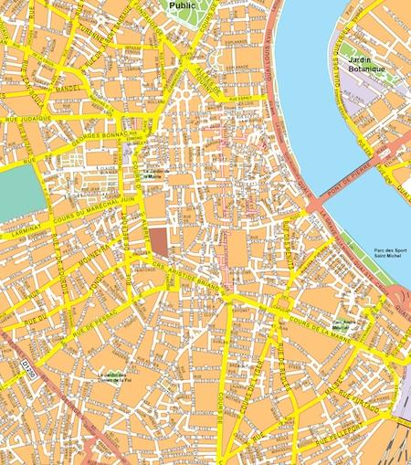 Bordeaux map