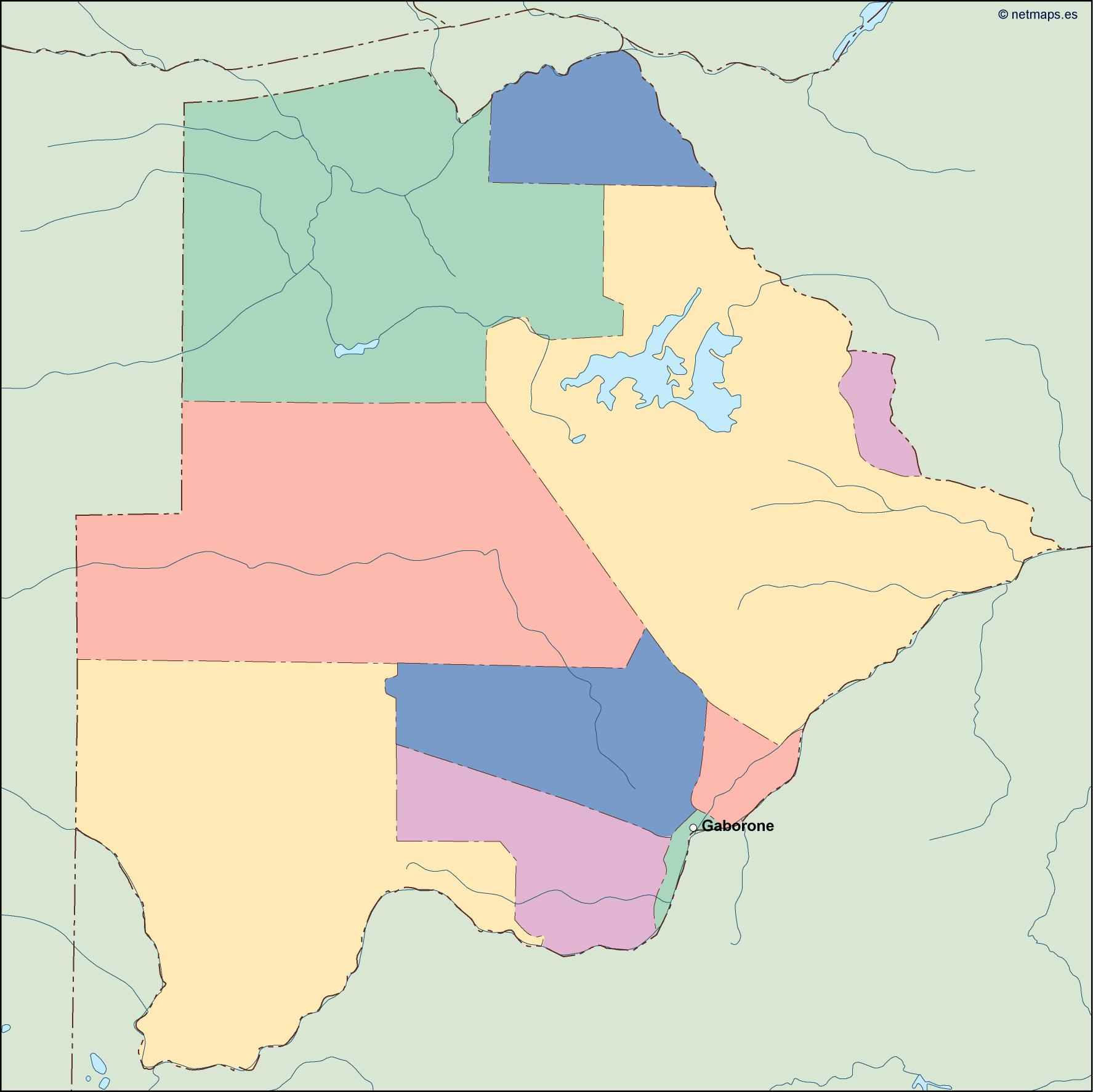 botswana vector map