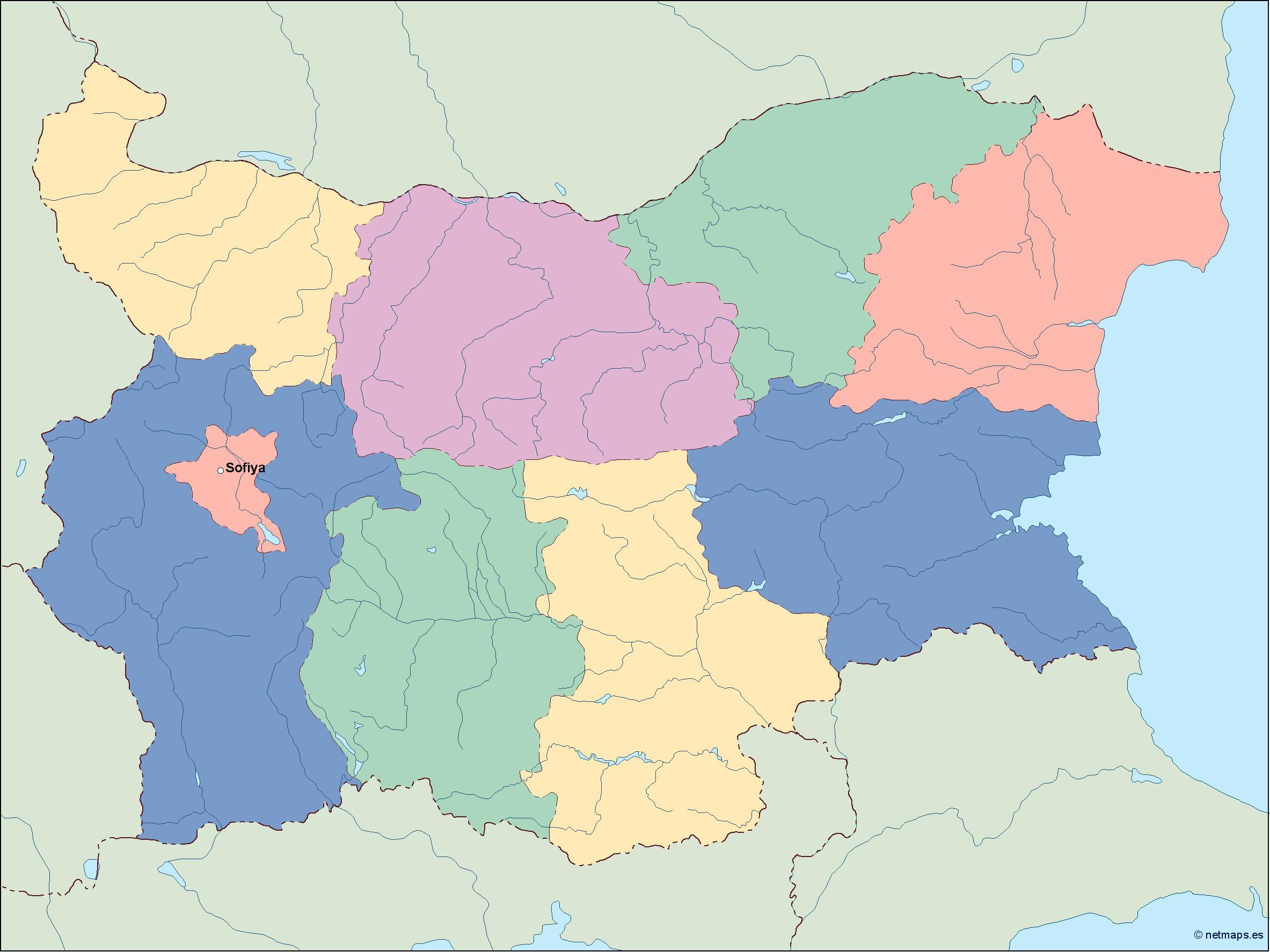 Picture of: Bulgaria Vector Map Illustrator Vector Eps Maps Eps Illustrator Map Vector World Maps