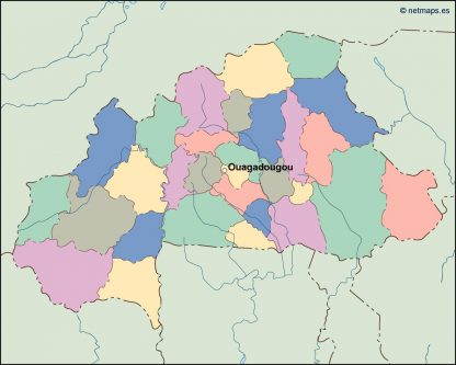 burkina faso vector map