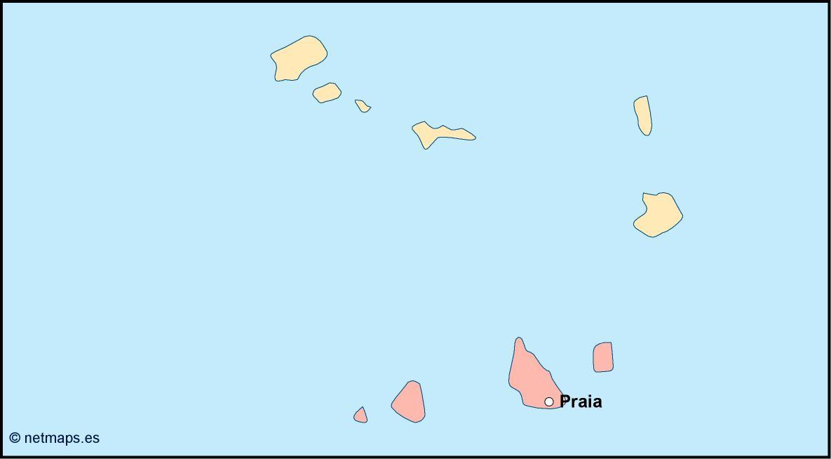 Cape Verde Vector Map Illustrator Eps Maps Eps Illustrator Map