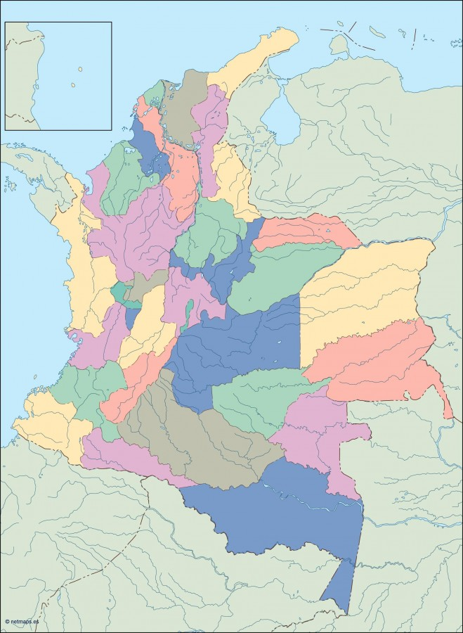 colombia blind map