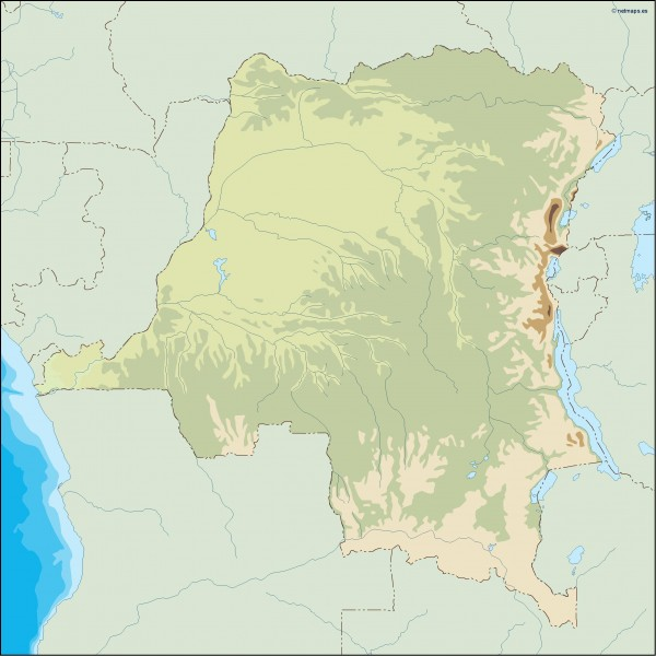 congo dem illustrator map