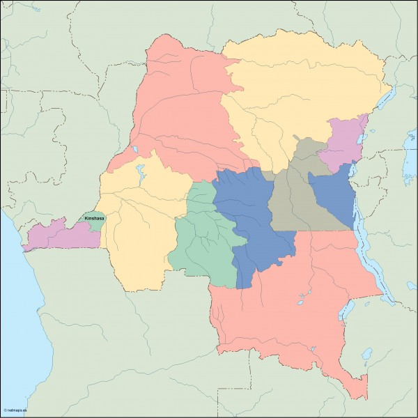 congo dem rep vector map