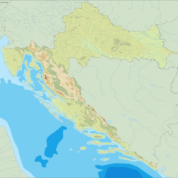 croatia illustrator map
