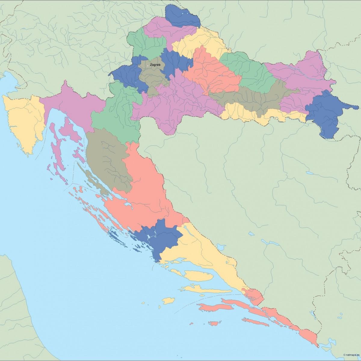 Croatia Vector Map Illustrator Vector Eps Maps Eps Illustrator Map