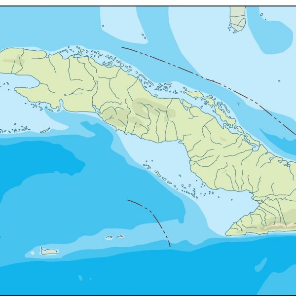 cuba illustrator map