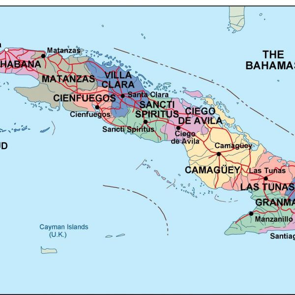 Cartografia Cuba Vector Wall Maps Made In Barcelona From - Political map of cuba