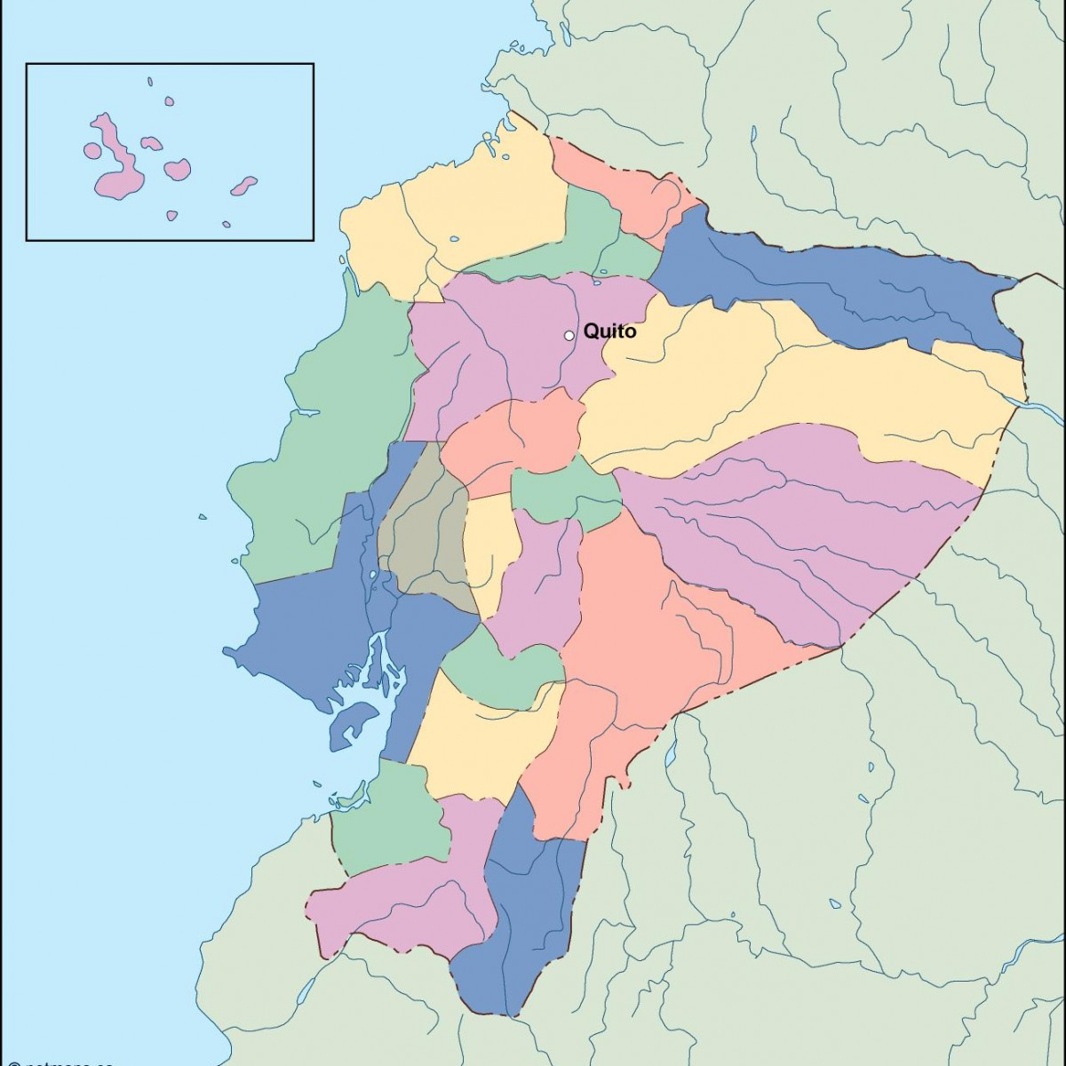 Ecuador Vector Map Ecuador Vector Map