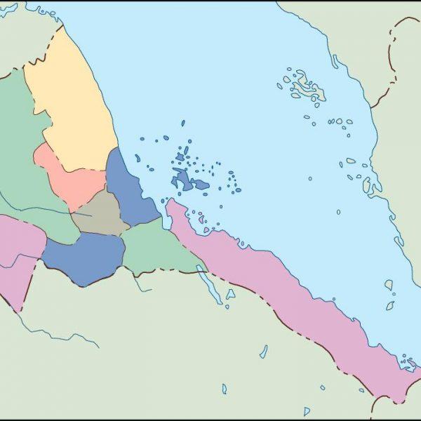 eritrea blind map