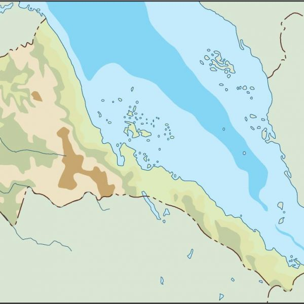 eritrea illustrator map