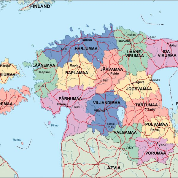 estonia political map
