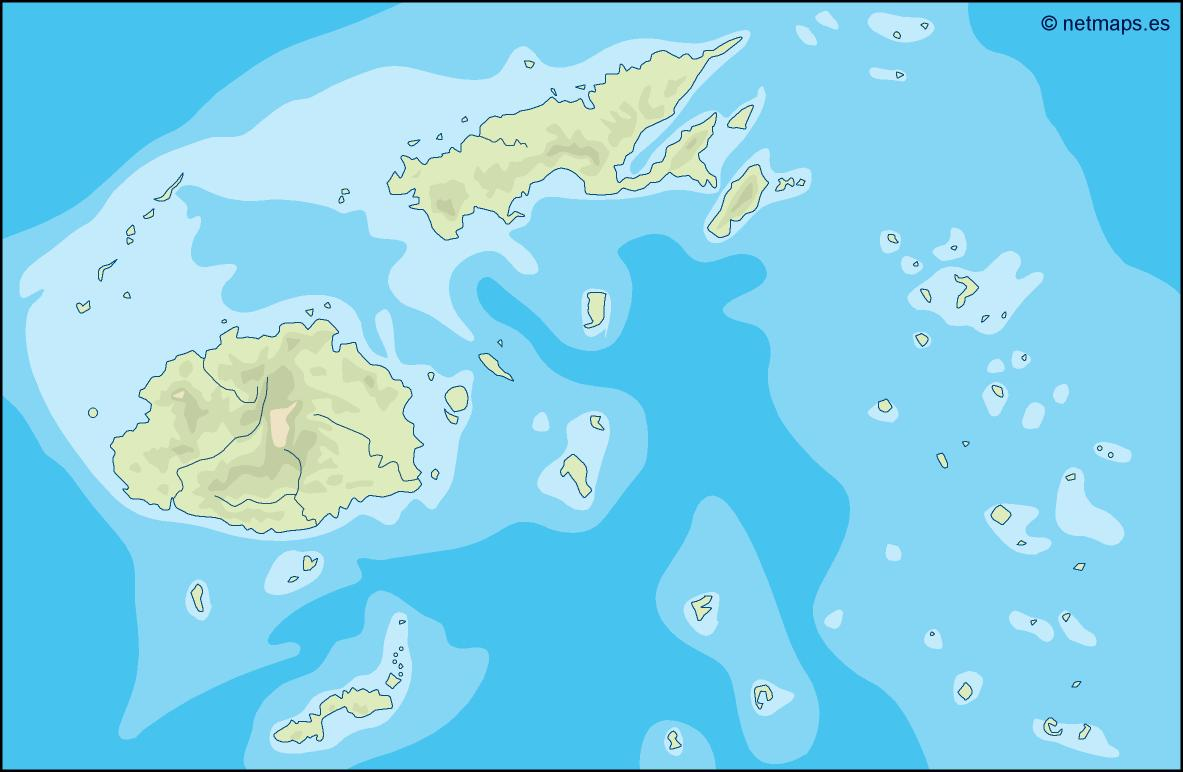 Fiji Illustrator Map Eps Illustrator Map Vector World Maps