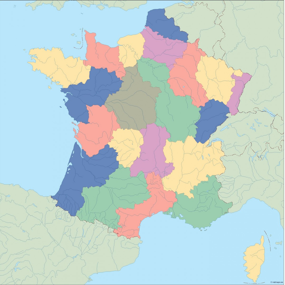 France Blind Map Illustrator Vector Eps Maps Eps Illustrator Map - Norway map eps