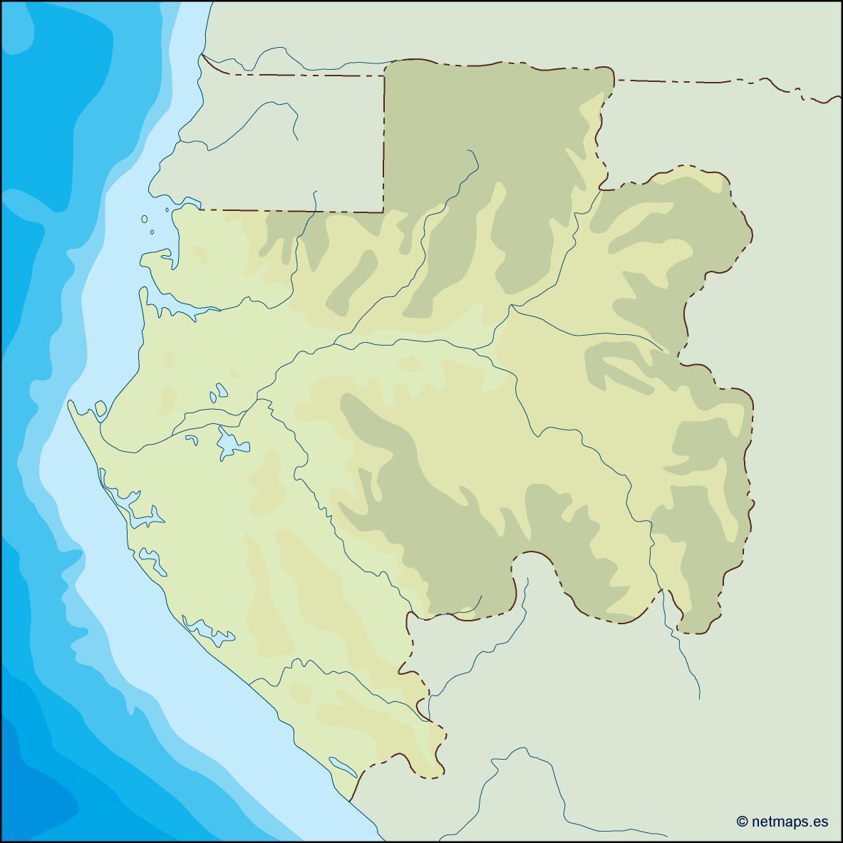 Gabon World Map.Gabon Illustrator Map Vector Eps Maps Eps Illustrator Map Vector