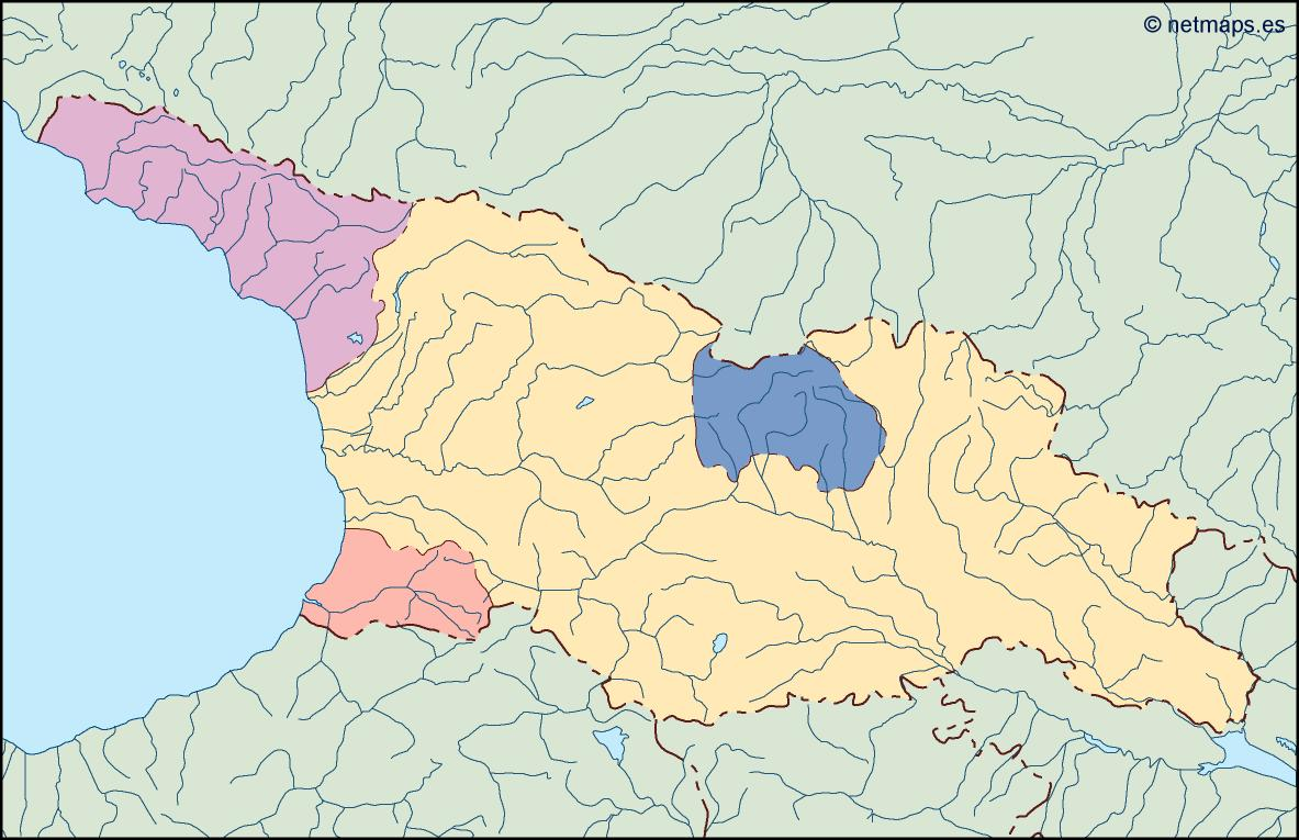 World Map Of Georgia.Georgia Blind Map