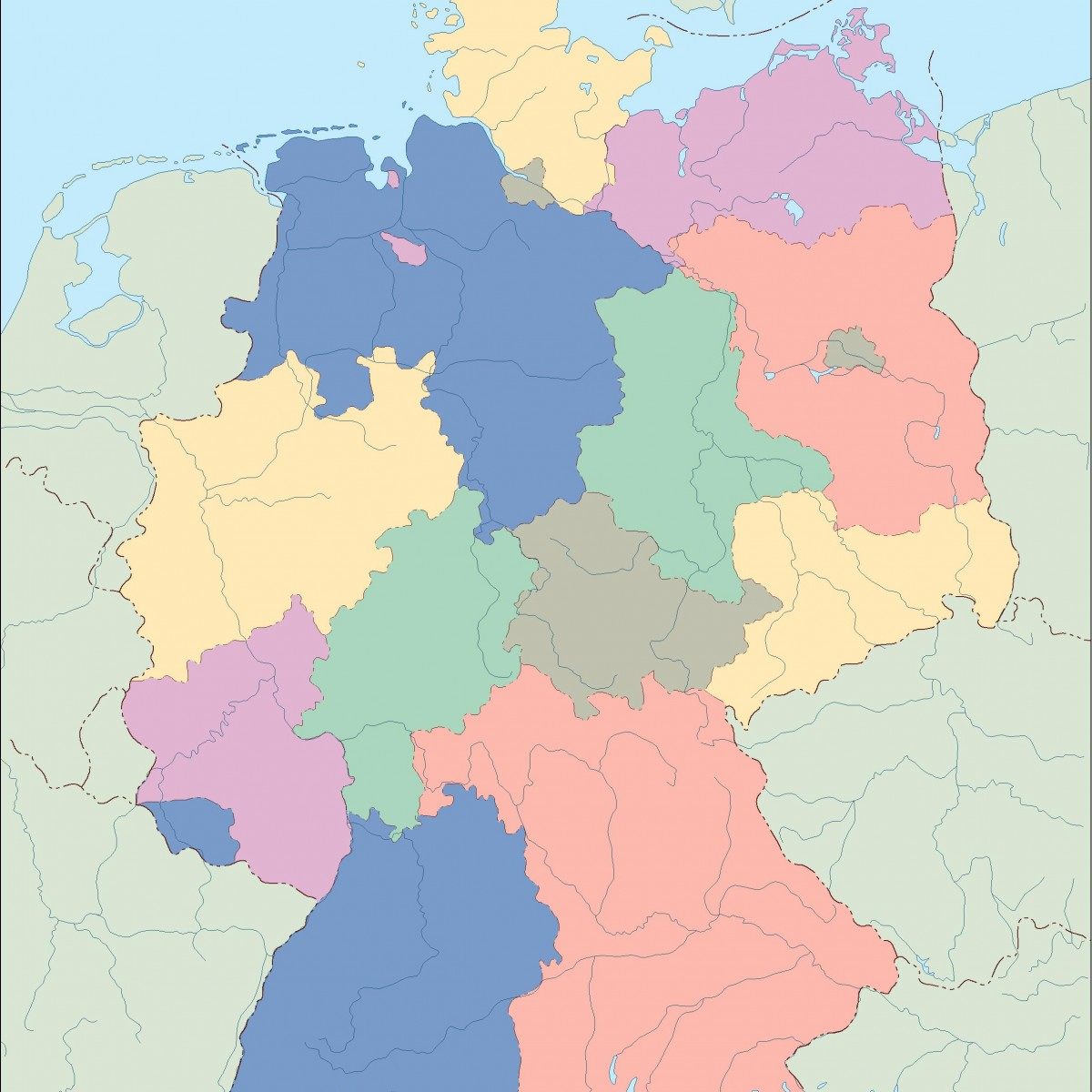 germany blind map