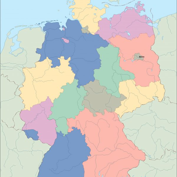 germany vector map