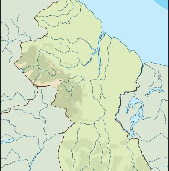guyana illustrator map