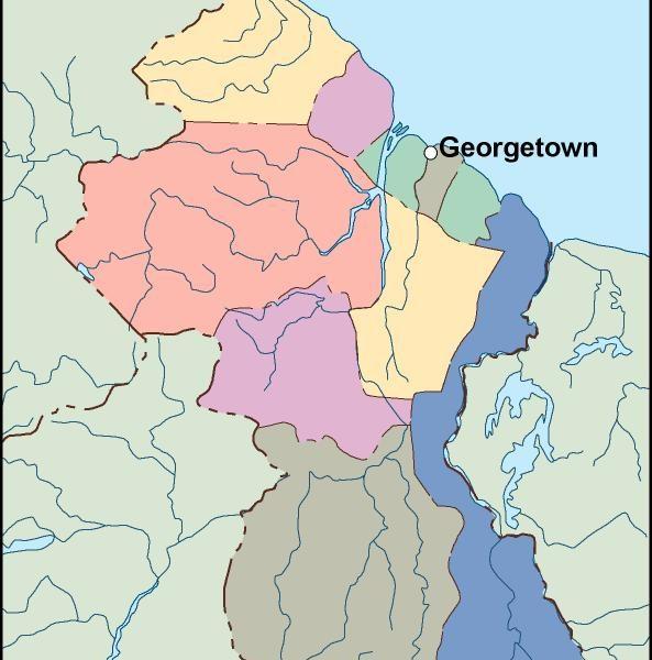 guyana vector map