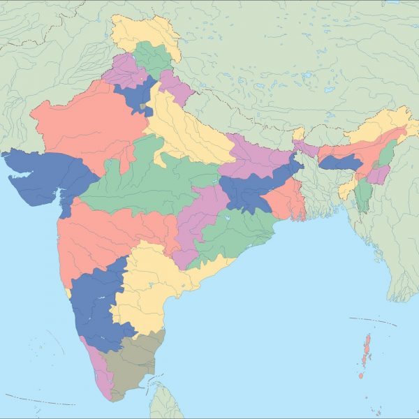 india blind map