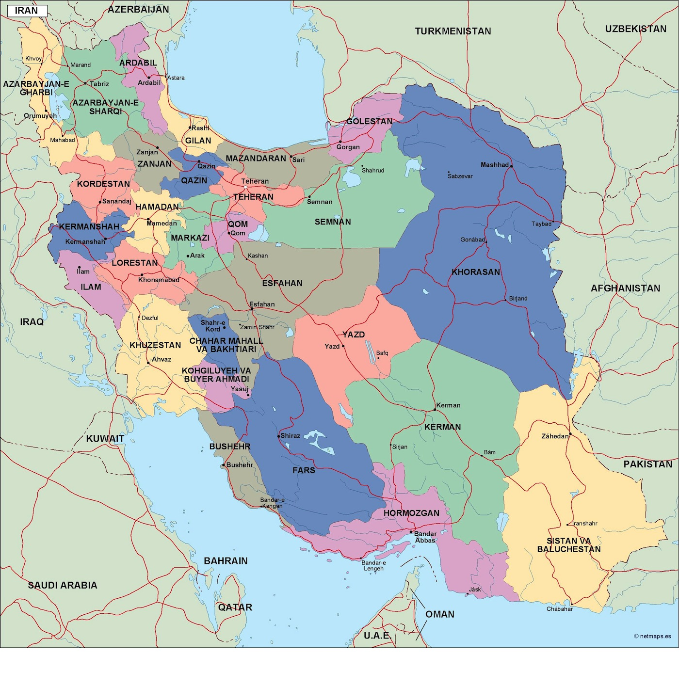 iran political map eps illustrator map a vector eps maps designed by our cartographers named iran political map eps illustrator map